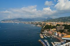 Sorrento, Italy. Beautiful town of Sorrento, in the region of the Amalfi Coast, near Napoli, Italy Stock Photos