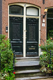 Beautiful Townhouse Entrance. In Amsterdam, Netherlands Stock Photos