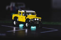 Toy Car, Yellow Off Road Jeep royalty free stock image