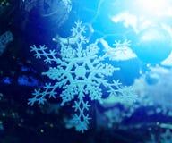 Beautiful toy snowflake hanging Royalty Free Stock Image