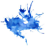 Beautiful traced  watercolor splatter. Royalty Free Stock Photo