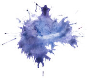 Beautiful traced  watercolor splatter. Stock Images