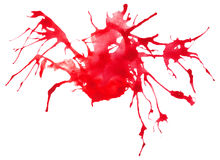 Beautiful traced  watercolor splatter. Royalty Free Stock Images