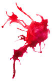 Beautiful traced  watercolor splatter. Stock Photo