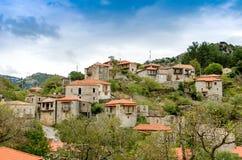 Beautiful traditional achitecture on mountain of Mainalo.Stemnitsa village in Greece. Beautiful traditional achitecture on mountain of Mainalo.Stemnitsa village stock images