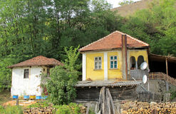 Beautiful traditional country architecture in Serbia royalty free stock image