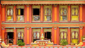 Beautiful traditional design on a house near Swayambhunath Stupa Royalty Free Stock Image