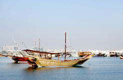 Beautiful traditional dhow of Qatar Royalty Free Stock Photography