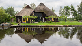 Beautiful traditional Dutch house Stock Images