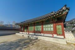 Beautiful traditional house at Gyeongbok Palace, Seoul , Korea. Beautiful traditional house at Gyeongbok Palace Royalty Free Stock Images