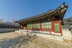 Beautiful traditional house at Gyeongbok Palace, Seoul , Korea. Beautiful traditional house at Gyeongbok Palace Royalty Free Stock Photos