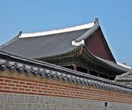 Beautiful traditional house in Korea Royalty Free Stock Photos