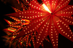 Beautiful traditional lanterns lit on the occassion of Diwali fe Stock Photos
