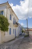 Beautiful traditional old house in Poros island. In Greece Stock Images