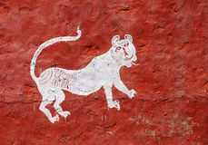 Beautiful traditional paintings in the village near Ranthambore Royalty Free Stock Photography