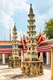 Beautiful traditional Thai architecture on the territory of the. Temple in Bangkok Royalty Free Stock Photography