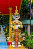 Beautiful traditional Thai guard at the temple Royalty Free Stock Photos