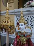 Beautiful traditional Thai puppet and crown Stock Photo