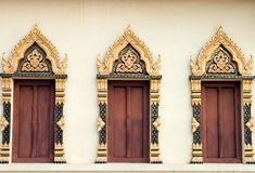 Beautiful of traditional Thai style  church window Royalty Free Stock Photography