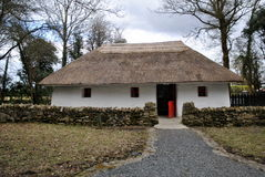 Beautiful traditional thatched cottage royalty free stock photo