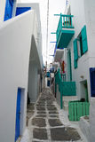 Beautiful traditional village on Mykonos Island, Greece. Royalty Free Stock Photography