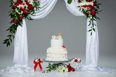 Cake with bone for dog wedding Stock Images