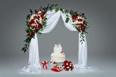 Cake with bone for dog wedding Royalty Free Stock Photo
