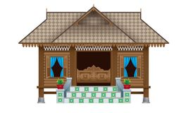 A beautiful traditional wooden Malay style village house.