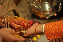 Beautiful traditions of Indian Hindu Wedding royalty free stock photography