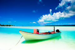 A beautiful tranquil island scene Stock Images