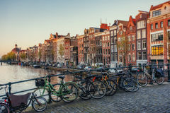 Beautiful tranquil scene the city of Amsterdam Stock Image
