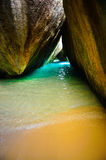 Beautiful tranquil seaside grotto Royalty Free Stock Images