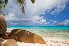 Beautiful tranquil tropical beach Stock Photos