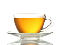 Beautiful transparent cup of tea Stock Images