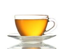 Beautiful transparent cup of tea Stock Images
