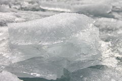Beautiful transparent ice floes. Picture taken at Lake Baikal, Russia Royalty Free Stock Photos