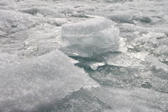 Beautiful transparent ice floes. Picture taken at Lake Baikal, Russia Stock Image