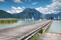 Beautiful Traunsee lake in Austria Royalty Free Stock Image