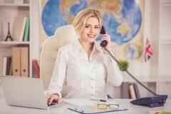 Beautiful travel agent stock photos