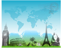 Beautiful Travel europe background vector Royalty Free Stock Image