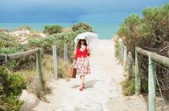 Beautiful  traveler Stock Photo