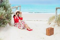 Beautiful  traveler Royalty Free Stock Photo