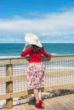 Beautiful  traveler Stock Images
