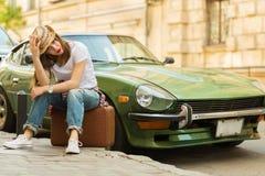 Beautiful traveller Stock Photos