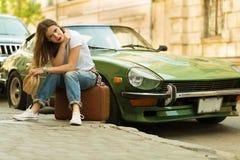 Beautiful traveller Stock Photo