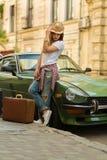 Beautiful traveller Stock Photography