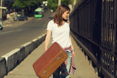 Beautiful traveller Stock Photography
