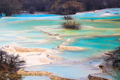 Beautiful travertine ponds Royalty Free Stock Photos