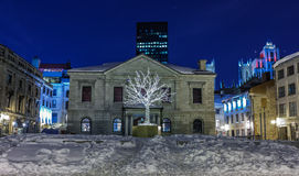 Old Montreal at night. Stock Photography