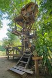 Beautiful tree house in Chiang Mai province Stock Photos
